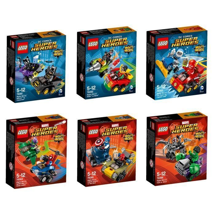 Super Heroes 76061, 76062, 76063, 76064, 76065, 76066 Mighty Micros Combi deal