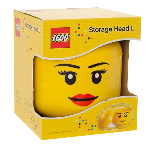 Lego Storage head L Girl