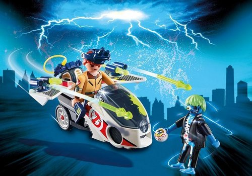 Playmobil Ghostbusters 9388 Stanz Met luchtmoto